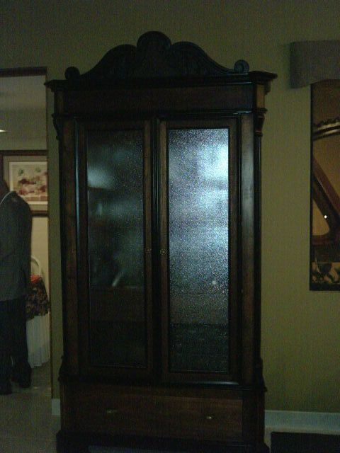 The original front door which was holding a big mirror for Dining room near front door